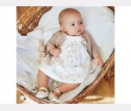 Rochie imprimeu cu chilotei bebe nou-nascut 1804 - Cod 2242