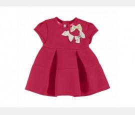 Rochie rosie cu maneca scurta 2911