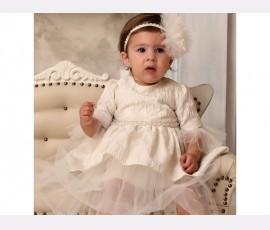 Rochie botez fetita Azaleea - Cod azaleea