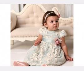 Rochie botez fetita Otilia mint - Cod Otilia Mint