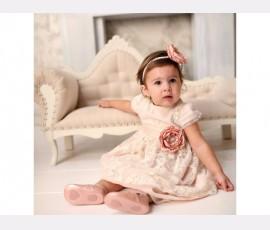 Rochie botez fetita Otilia Rose - Cod Otilia Rose