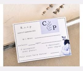 card de confirmare Dusty Blue
