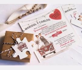 Invitatie de nunta 39808 - Cod 39808