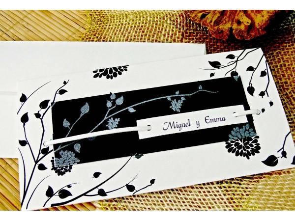 Invitatie culori alb si negru