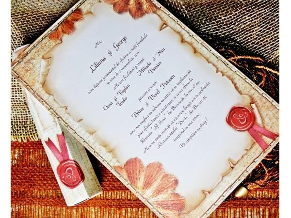 Invitatie tip papirus