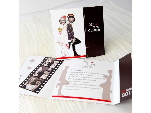 Invitatie de nunta  Mr. & Mrs.Smith