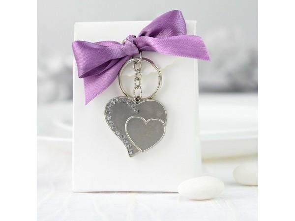 Set - Breloc inimioare + cutie