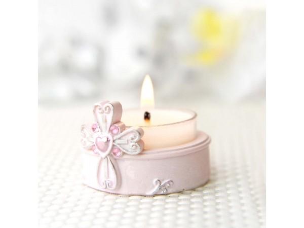 Suport lumânare roz