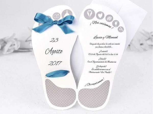Invitatie de nunta papuc