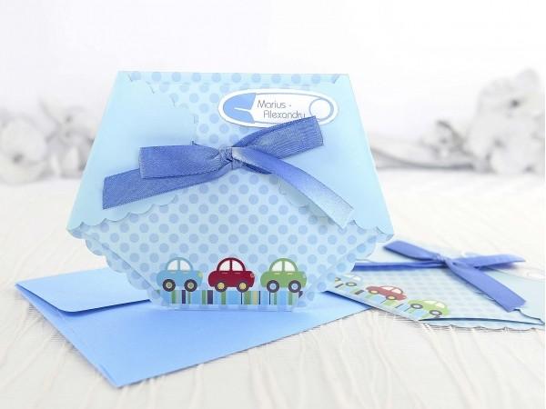 Invitație pampers bleu