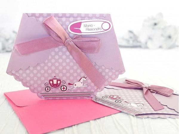 Invitație pampers roz