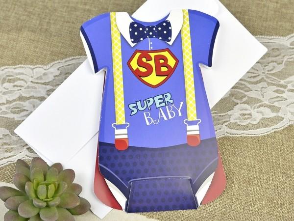 Invitatie de botez super bebe
