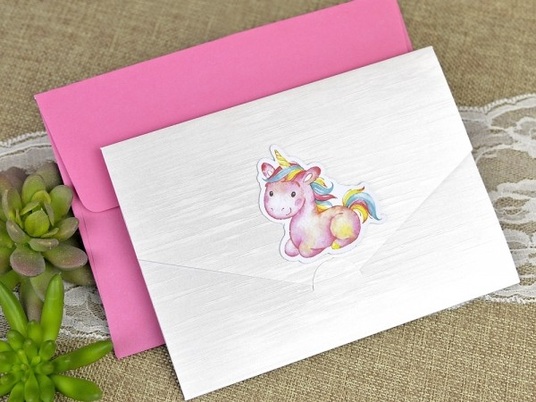 Invitatie de botez unicorn