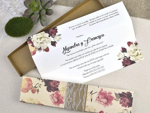 Invitatie cutie eleganta