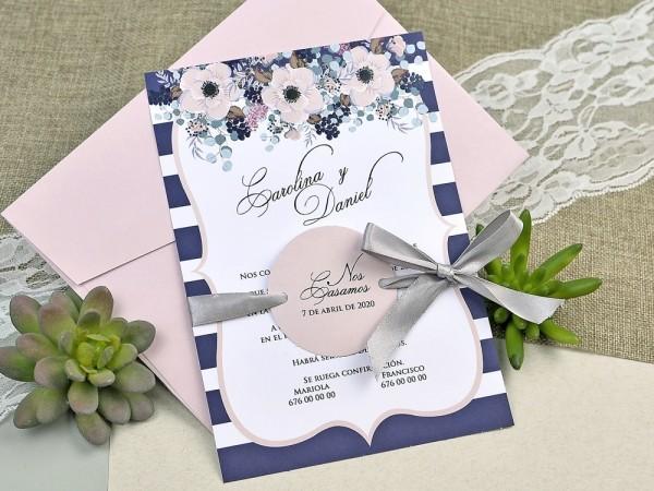 Invitatie motive florale