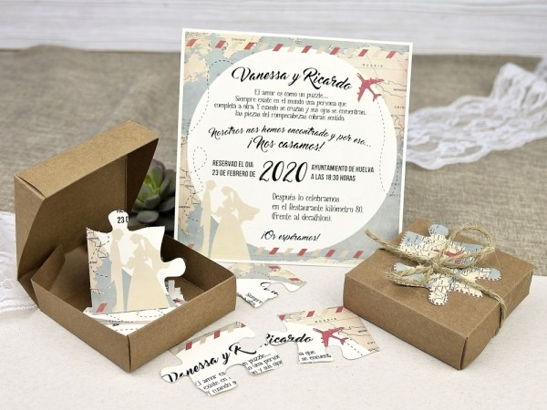 Invitatie de nunta puzzle