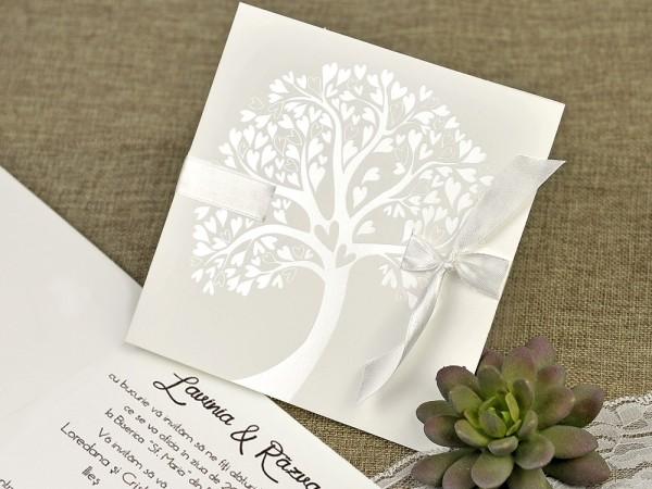 Invitatie de nunta copacul iubirii