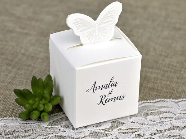 Marturie cutie fluture