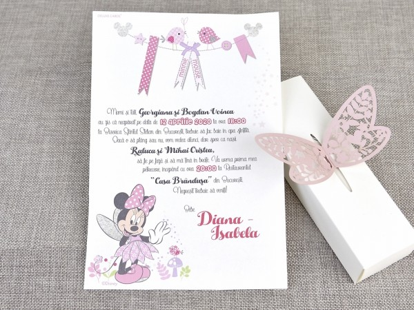 Invitatie de botez Zana Minnie