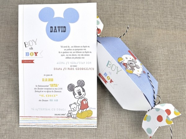 Invitatie de botez Candy Mickey