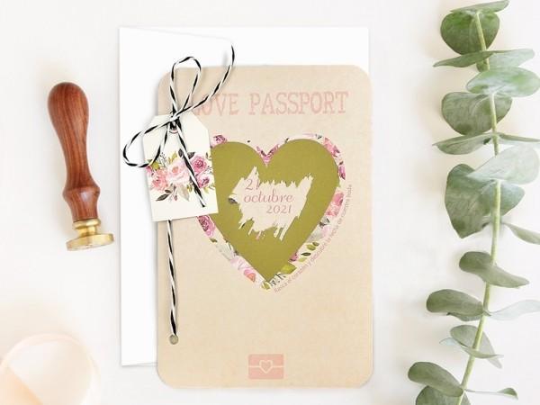 Invitatie de nunta Love Passport