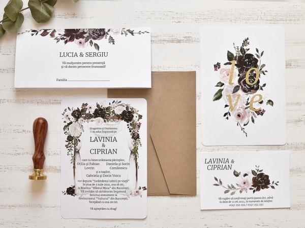 Invitatie de nunta Boho Love