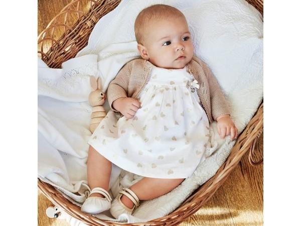 Rochie imprimeu cu chilotei bebe nou-nascut 1804