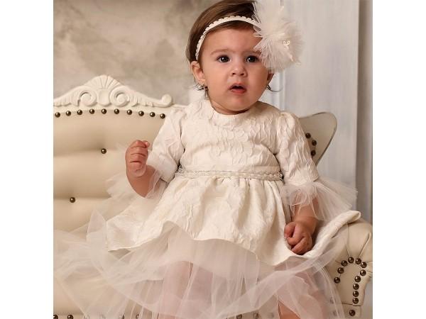 Rochie botez fetita Azaleea