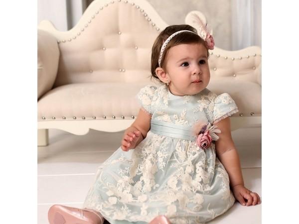 Rochie botez fetita Otilia mint