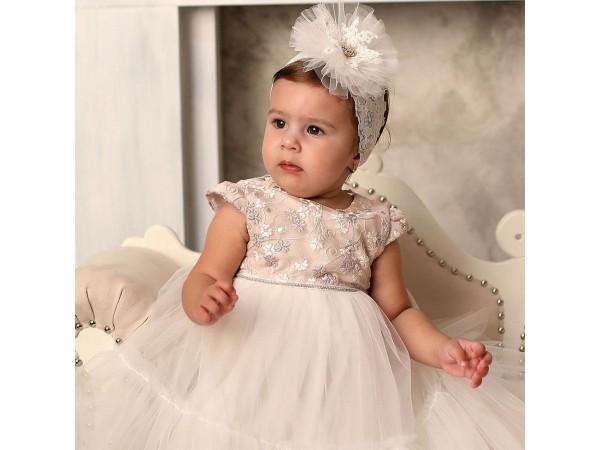 Rochie botez fetita Ilona