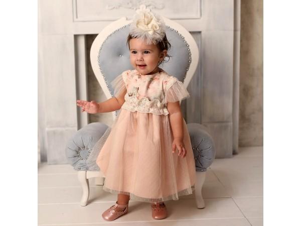 Rochie botez fetita Rozalia