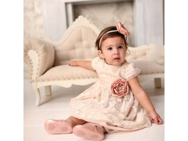 Rochie botez fetita Otilia Rose