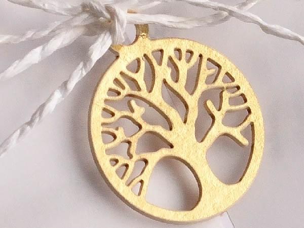 Accesoriu hartie cotton copac auriu LS819