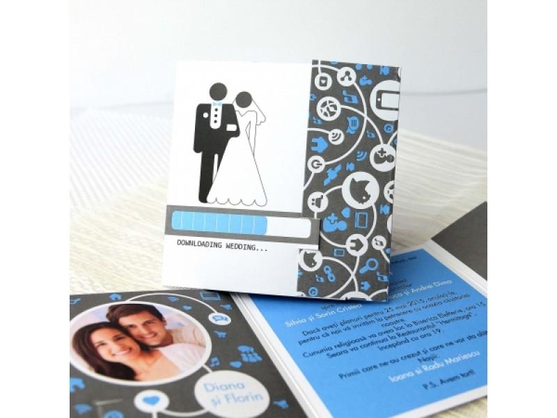 Invitatie De Nunta Downloading Wedding 32622 Deluxe Cards