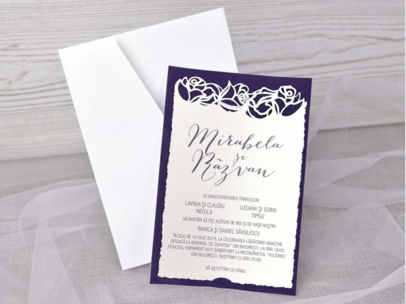 Invitatie De Nunta Catifea 39348 Deluxe Cards