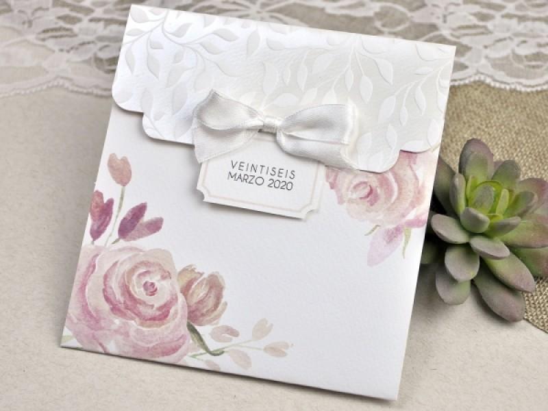 Invitatie De Nunta Cu Flori Acuarela 39623 Deluxe Cards