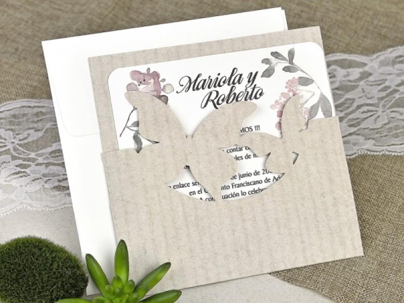 Invitatie De Nunta Fluturi 39626 Deluxe Cards
