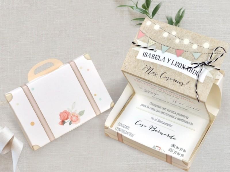 Invitatie De Nunta Valiza 39719 Deluxe Cards