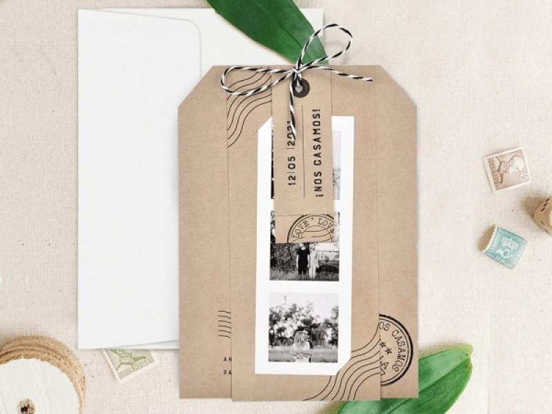 Invitatie De Nunta Kraft 39731 39731 Deluxe Cards