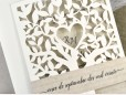 Invitatie de nunta copac decupat cu laser