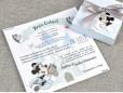 Invitatie de botez Puzzle Mickey