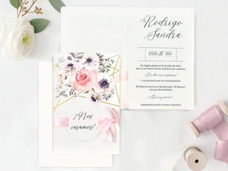 Invitatie De Nunta Motive Florale 39723 Deluxe Cards