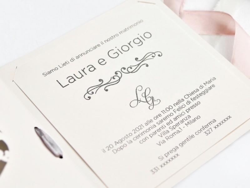 Invitatie De Nunta Decupaj Laser 39749 39749 Deluxe Cards